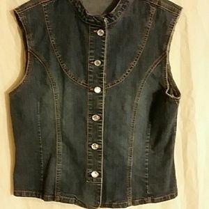 Jackets & Blazers - Blue jean sleeveless vest